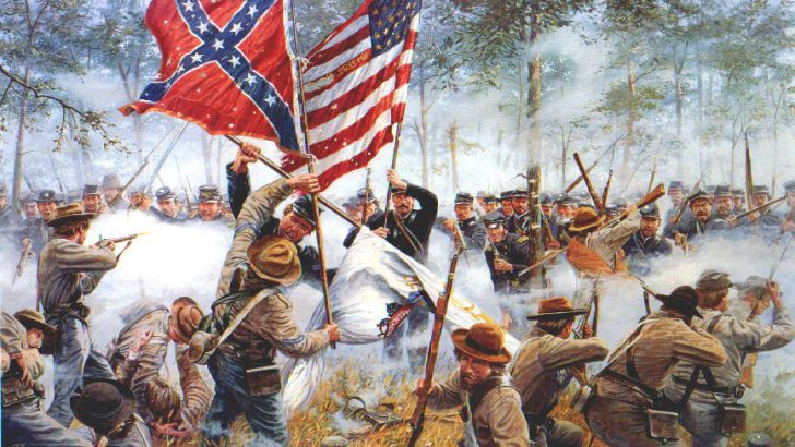 Image result for the civil war battle began in 1863